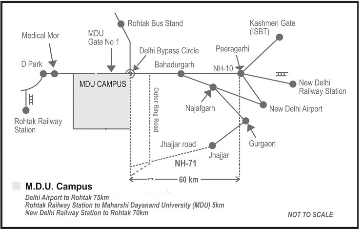 Rti Campus Map.Maharshi Dayanand University Rohtak